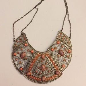 Pretty orange statement necklace
